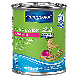 swingcolor 2in1 Klarlack  (125 ml, Glänzend)