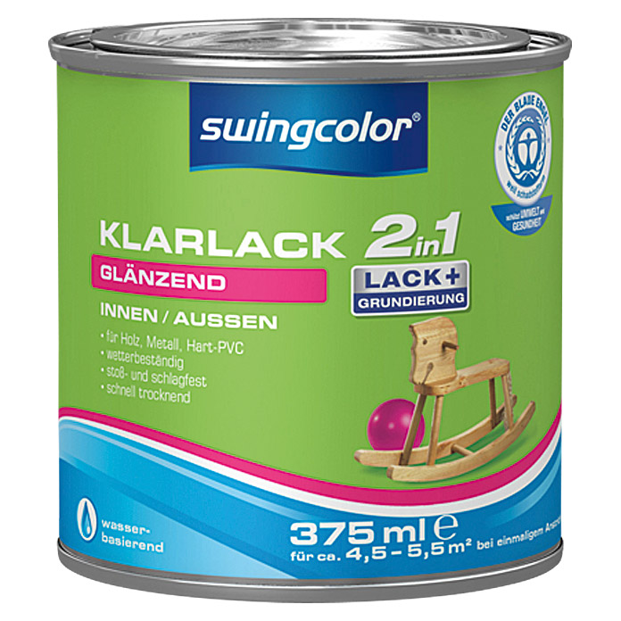 KLARLACK 2 IN 1 WB  375 ml GLZ FARBLOS  SWINGCOLOR