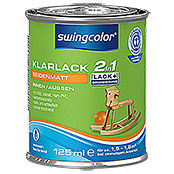 swingcolor 2in1 Klarlack (Farblos, 125 ml, Seidenmatt)