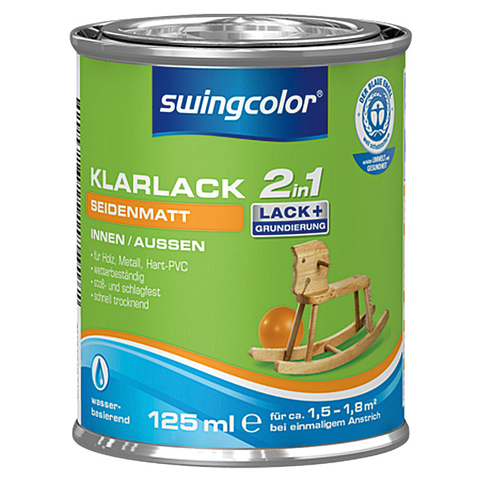 swingcolor 2in1 Klarlack  (125 ml, Seidenmatt)