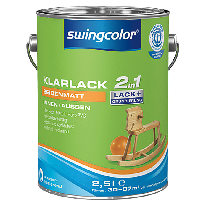 KLARLACK 2 IN 1 WB  2,5 l SDM. FARBLOS SWINGCOLOR