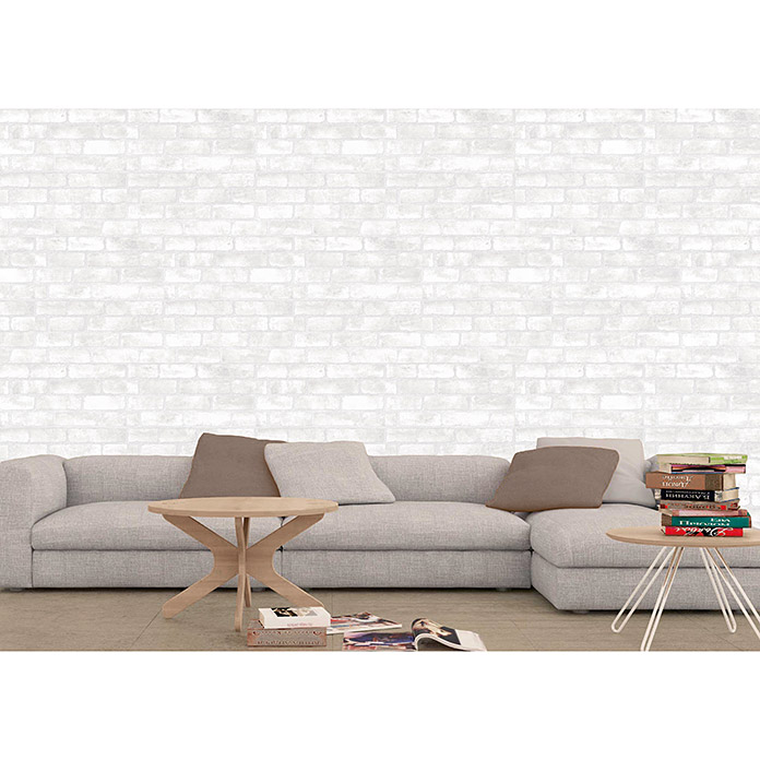 Revestimiento de pared Brickwork (33 x 55 cm, Blanco, Mate)