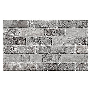 Revestimiento de pared Brickwork (33 x 55 cm, Gris, Mate)