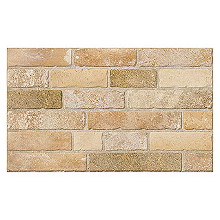 Revestimiento de pared Brickwork (33 x 55 cm, Beige, Mate)