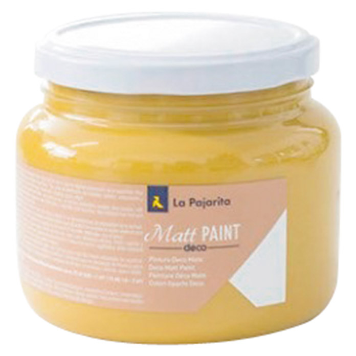 La Pajarita Pintura Matt Paint mustard  (500 ml, Mate)
