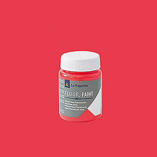 La Pajarita Pintura Fluor Paint Red (75 ml)