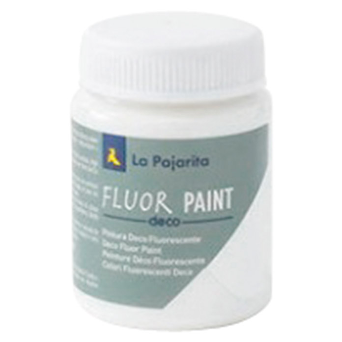 La Pajarita Pintura Fluor Paint White (75 ml)