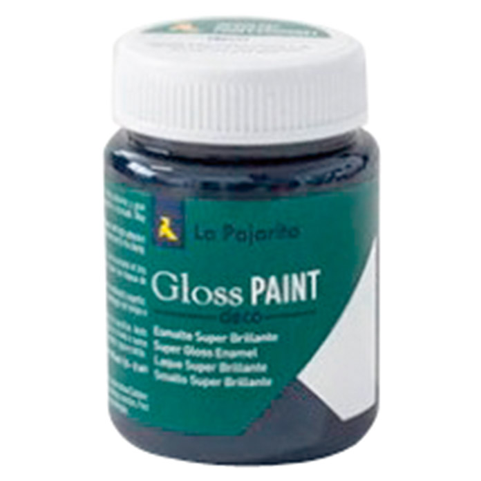 La Pajarita Pintura Gloss Paint black Jack, 75 ml (Brillante)