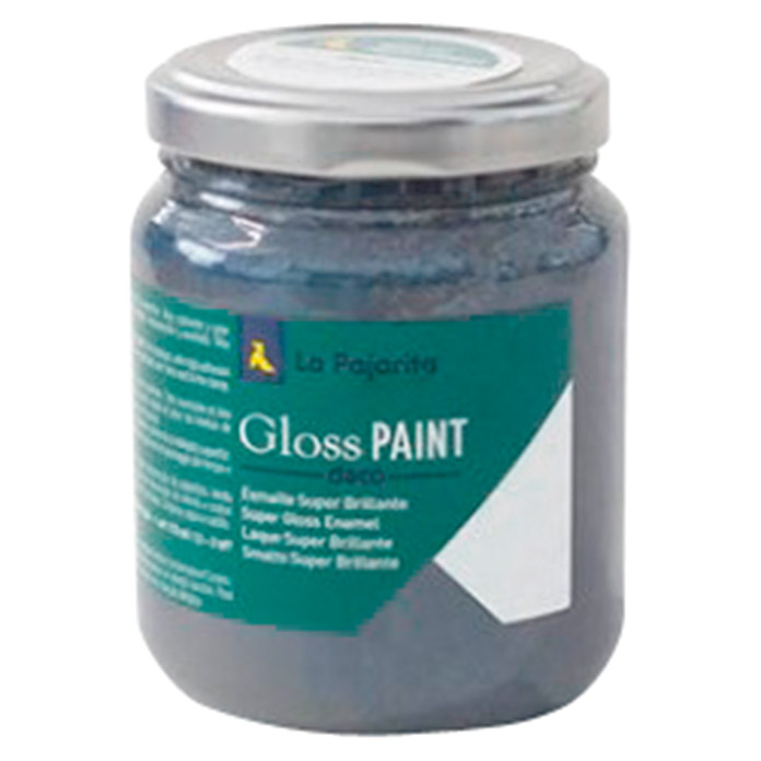 La Pajarita Pintura Gloss Paint dark iron, 175 ml (Brillante)