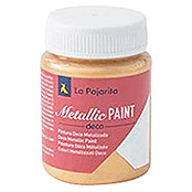 La Pajarita Pintura Metallic Paint rich gold (75 ml, Brillante)