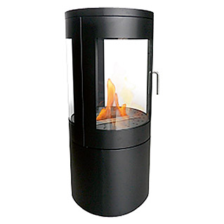 Purline Chimenea de bioetanol Bestfire View (430 x 430 x 950 mm, Nero)