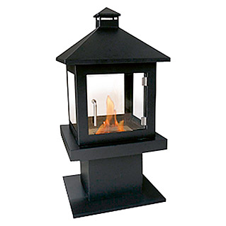 Purline Chimenea de bioetanol Purline (500 x 500 x 1.000 mm, Nero)