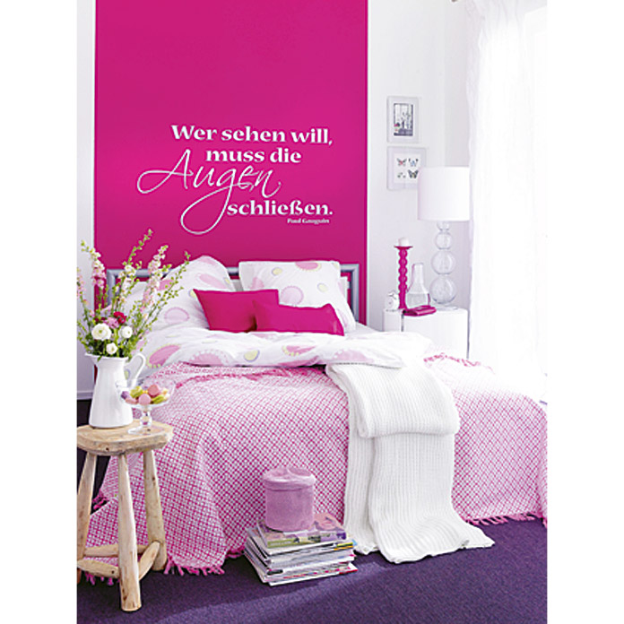 sch ner wohnen wand deckenfarbe trendfarbe orchidee 1. Black Bedroom Furniture Sets. Home Design Ideas