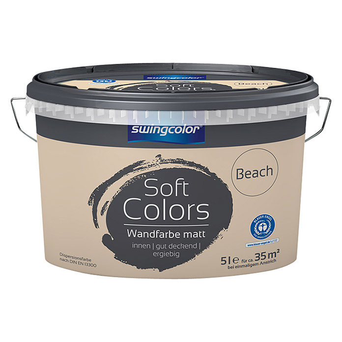 swingcolor Soft Colors Wandfarbe (Beach, 5 l, Matt)