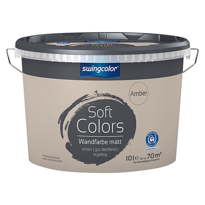 swingcolor Soft Colors Wandfarbe (Amber, 10 l, Matt)