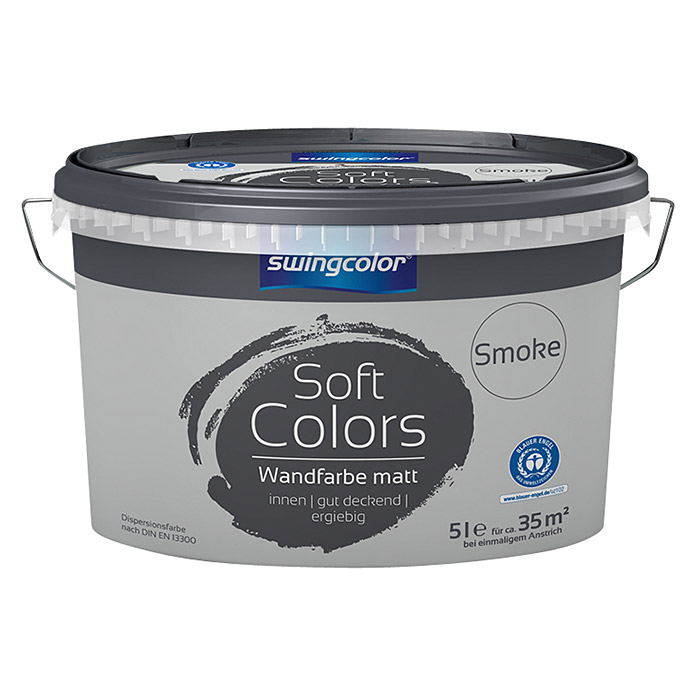 swingcolor Soft Colors Wandfarbe (Smoke, 5 l, Matt)