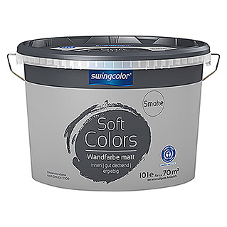 swingcolor Soft Colors Wandfarbe (Smoke, 10 l, Matt)