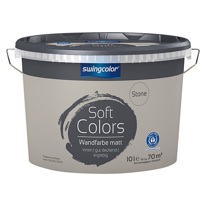 swingcolor Soft Colors Wandfarbe (Stone, 10 l, Matt) -