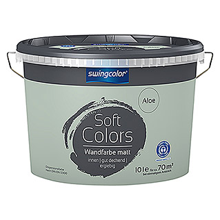 swingcolor Soft Colors Wandfarbe (Aloe, 10 l, Matt)