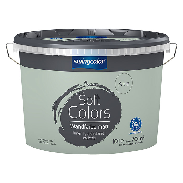 swingcolor Soft Colors Wandfarbe (Aloe, 10 l, Matt) -