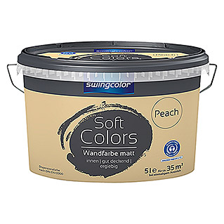swingcolor Soft Colors Wandfarbe (Peach, 5 l, Matt)