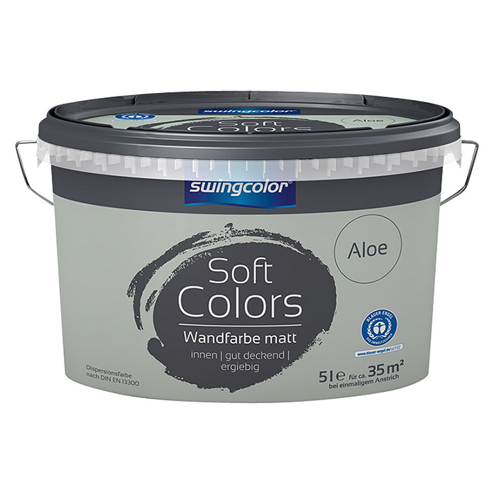 swingcolor Soft Colors Wandfarbe (Aloe, 5 l, Matt)