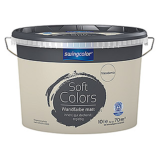 swingcolor Soft Colors Wandfarbe (Macadamia, 10 l, Matt)