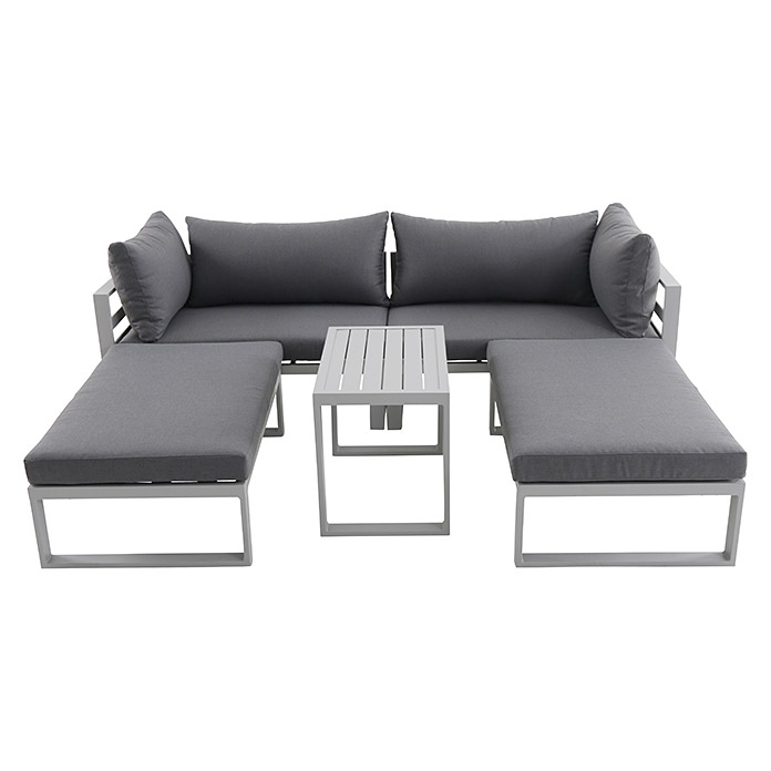 sunfun loungem bel set hannah 5 tlg grau bauhaus. Black Bedroom Furniture Sets. Home Design Ideas