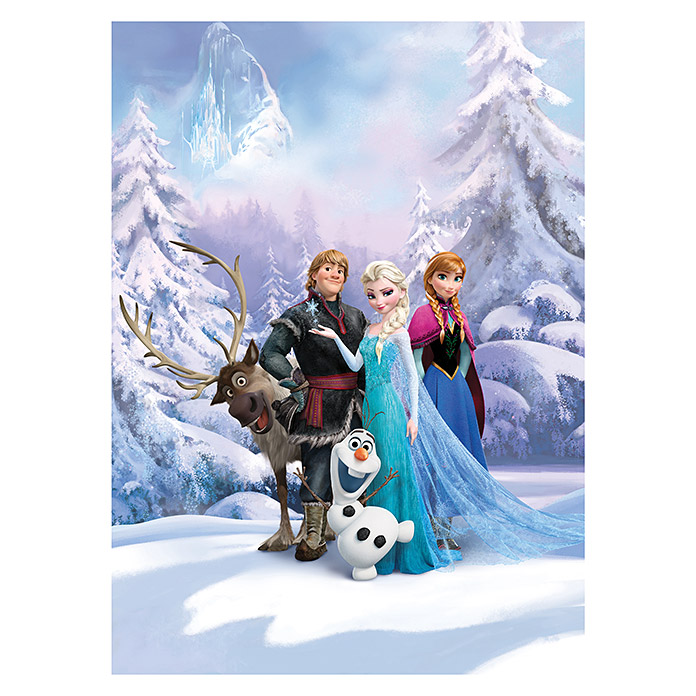 Komar Disney Edition 4 Fototapete Frozen Winter Land (4-tlg., 184 x 254 cm) -