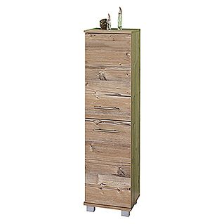 Schildmeyer Isola Highboard (33 x 30,5 x 117 cm, Silberfichte)