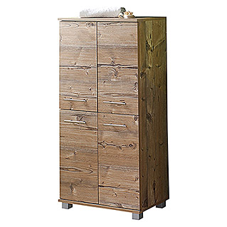 Schildmeyer Isola Highboard (33 x 60 x 117 cm, Silberfichte)