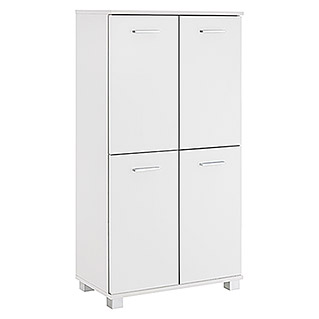 Schildmeyer Lumo Highboard (32,5 x 60 x 117 cm, Perlweiß)