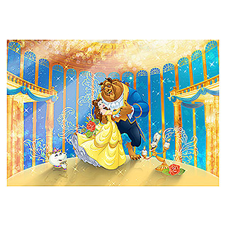 Komar Disney Edition 4 Fototapete Beauty and the Beast (8-tlg., 368 x 254 cm)