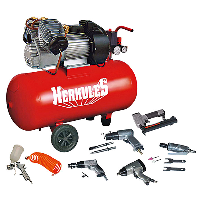 Herkules Kompressor-Set BAUHAUS-Edition (2,2 kW/3 PS, 10 bar, 2.850 U/min)