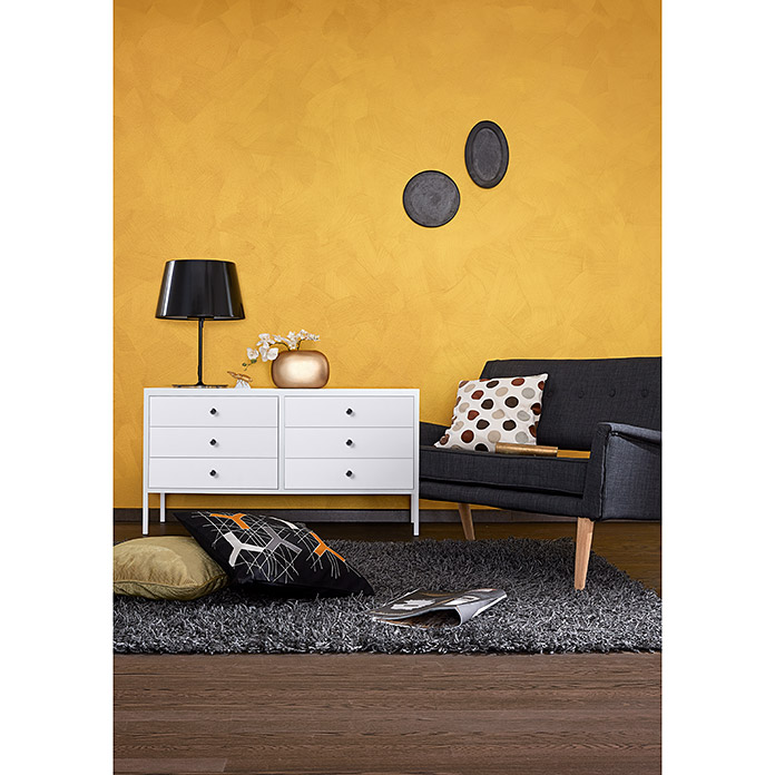 sch ner wohnen metall optik effektfarbe trendstruktur gold 2 5 l gl nzend bauhaus. Black Bedroom Furniture Sets. Home Design Ideas