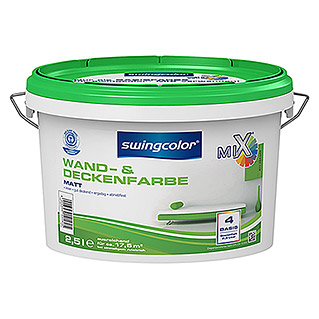 swingcolor Mix Wandfarbe (Basismischfarbe, 2,5 l, Matt)