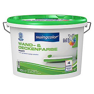 swingcolor Mix Wandfarbe (Basismischfarbe, 10 l, Matt)