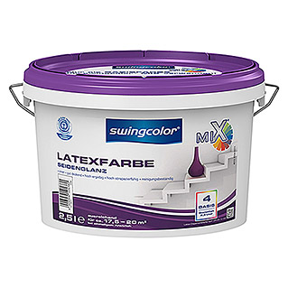 swingcolor Mix Latexfarbe Basis 4 (Basismischfarbe, 2,5 l, Seidenglänzend)