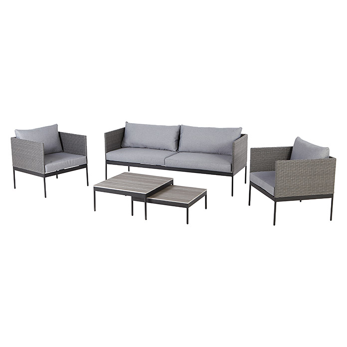 loungem bel set 5 tlg polyrattan bauhaus sterreich. Black Bedroom Furniture Sets. Home Design Ideas