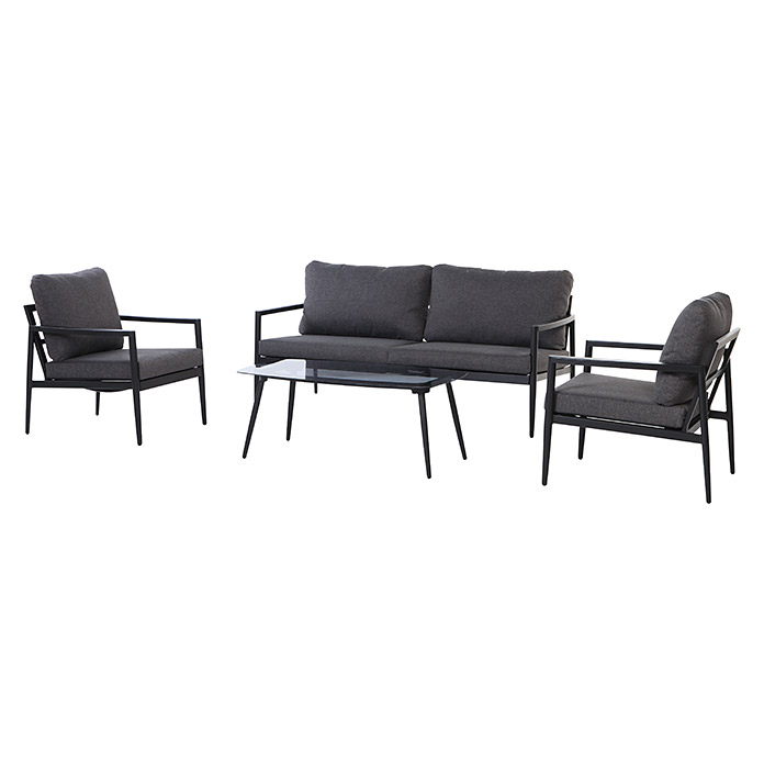 Loungemöbel-Set (4-tlg., Aluminium, Anthrazit) | 8303 - Loungeset ...