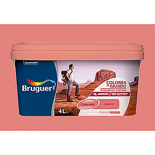 Bruguer Colores del Mundo Pintura para paredes Colorado terracota (4 l, Mate)