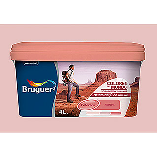 Bruguer Colores del Mundo Pintura para paredes Colorado malva intermedio (4 l, Mate)