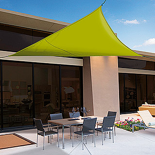 Nortene Toldo vela Sunnet Kit Triangular (3,6 x 3,6 m, Verde)