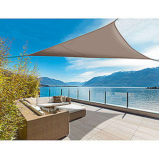 Nortene Toldo vela Sunnet Kit Triangular (3,4 x 3,4 m, Marrón)
