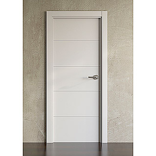 Puerta interior Medium Ranurado Lacado Blanco (625 x 2.030 mm, Apertura: Derecha)