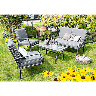 Sunfun Berkeley Loungemöbel-Set (4-tlg., Textilien)