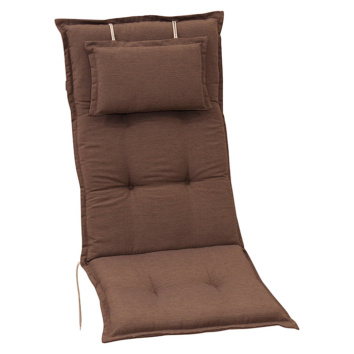 Sunfun Exclusive-Line Stuhlauflage (Hochlehner, Taupe, 100 % Polyester)