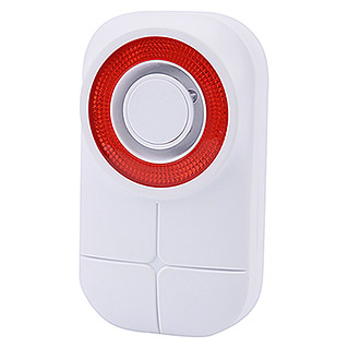 Olympia Protect/Pro Home Alarmsirene (L x B x H: 49 x 92 x 138 mm, Passend für: Olympia Funk-Alarmanlage Protect/ProHome-Serie, Alarmsignal: 105 dB)