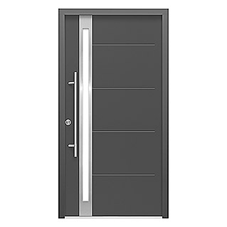 Haustür Thermodoor SP30EA RC2 (110 x 210 cm, DIN Anschlag: Links, Edel-Anthrazit)