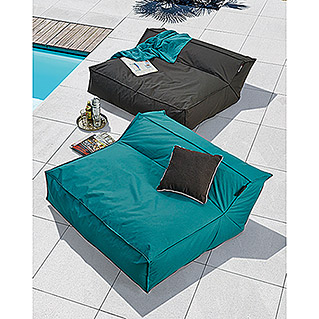 Sitzsack Mega Lounge Bed Square XXL (114 x 110 x 52 cm, Anthrazit)